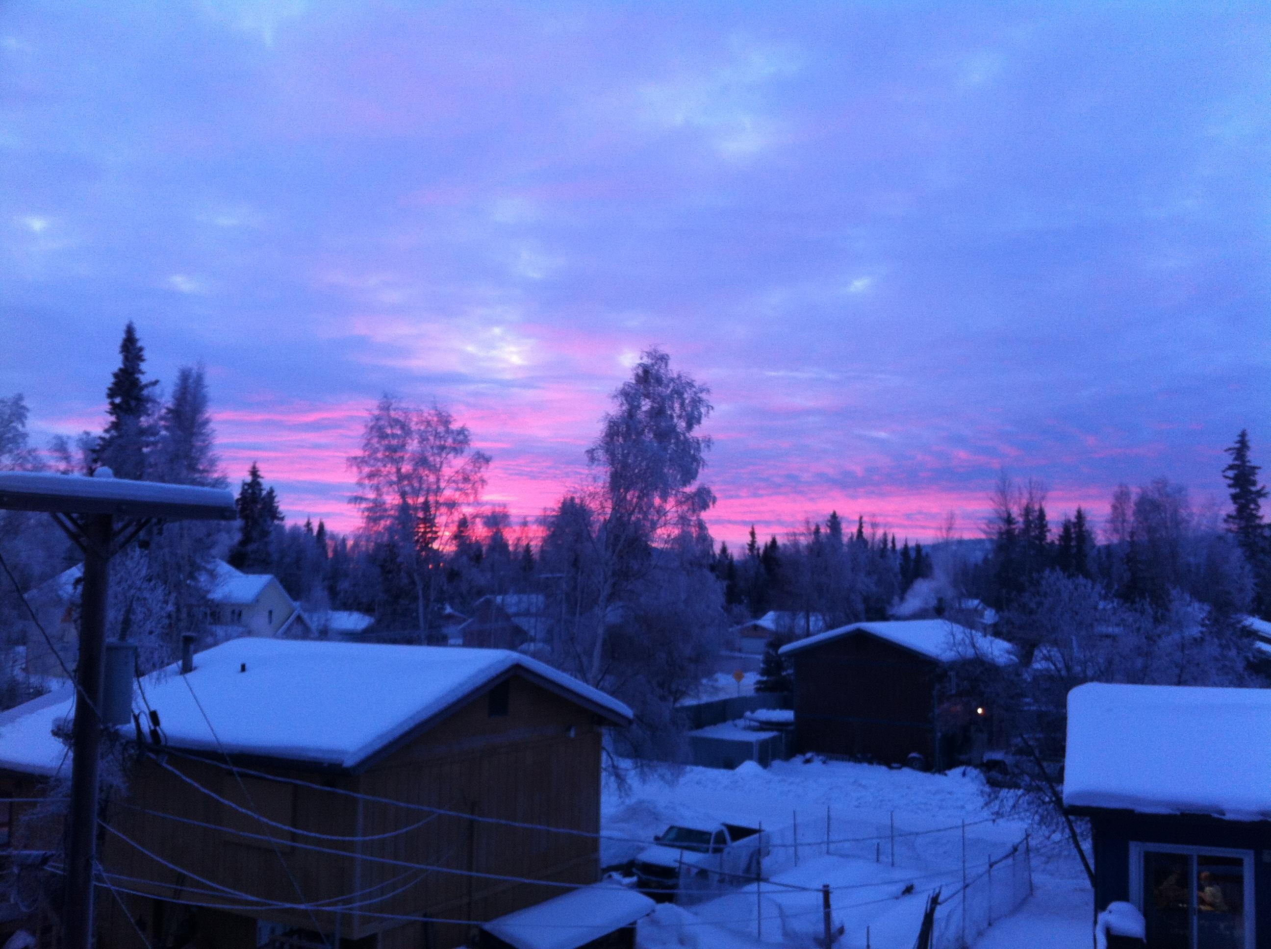 Sunrise off the balcony