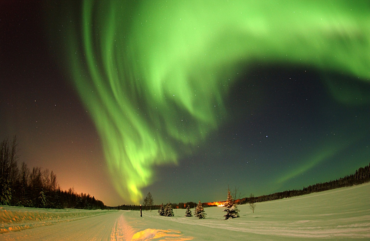 Aurora in Alaska - see it outside your door